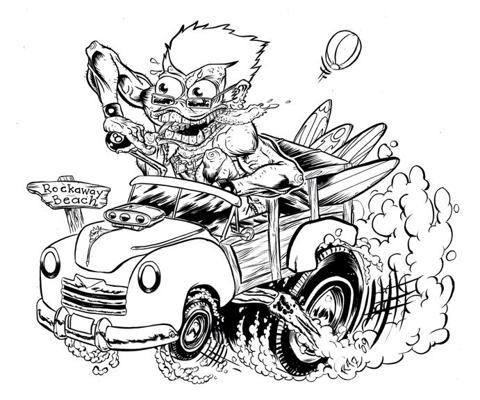 Rat Fink Hot Rod Coloring Cars Coloring Pages Bear Coloring Pages Coloring Pages