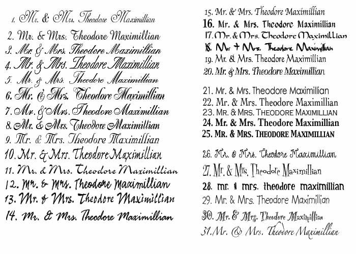 fonts for your unique couture fonts for wedding invitations - Wedding Invitation Fonts