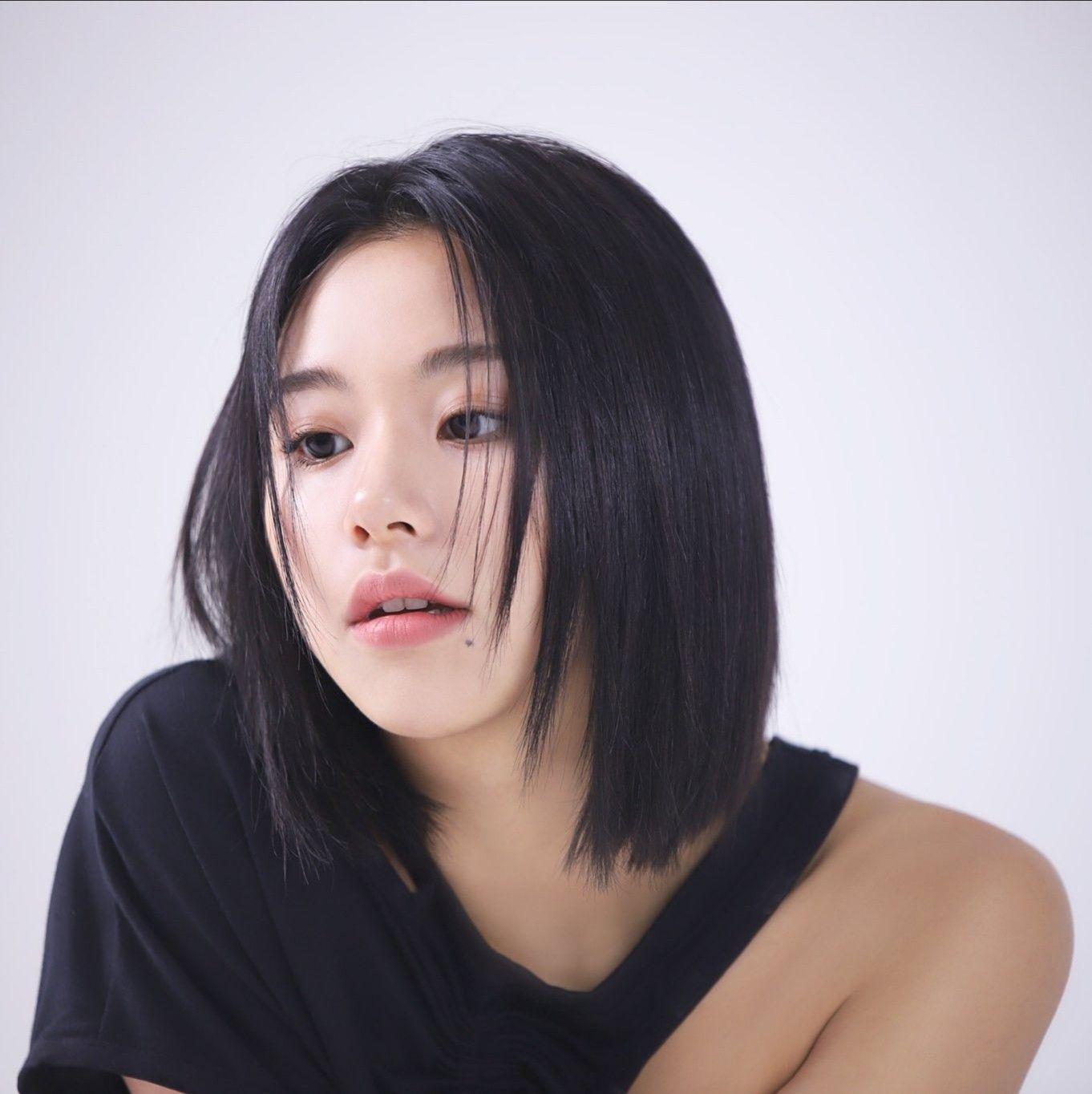 Chaeyoung Black Hair Kpop Kpop Short Hair Short Hair Styles