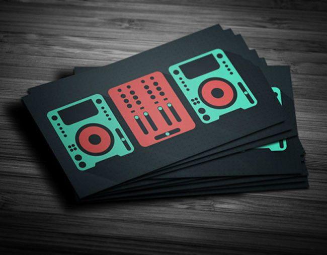 flat design dj business card dj card pinterest dj business