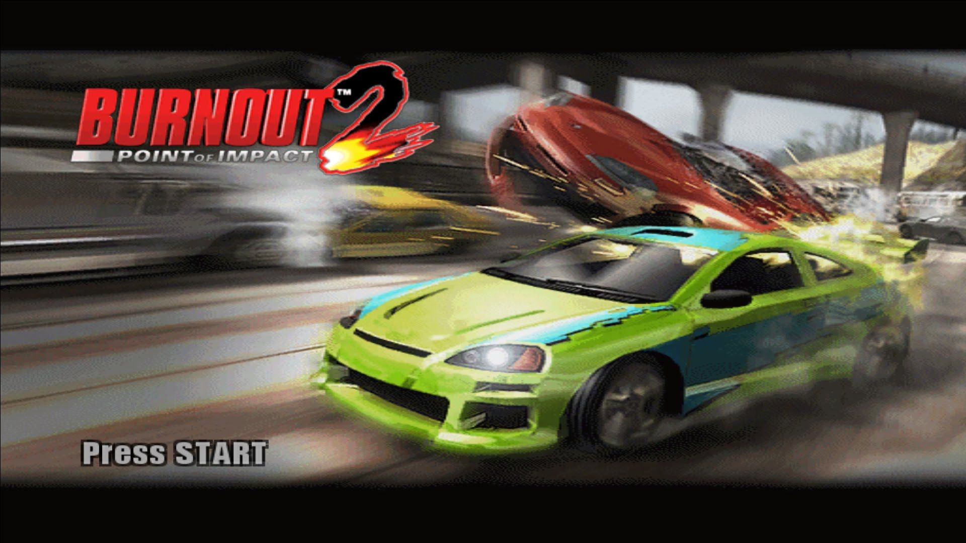 Burnout 2: Point of Impact Gameplay on Dolphin + DirectX 12
