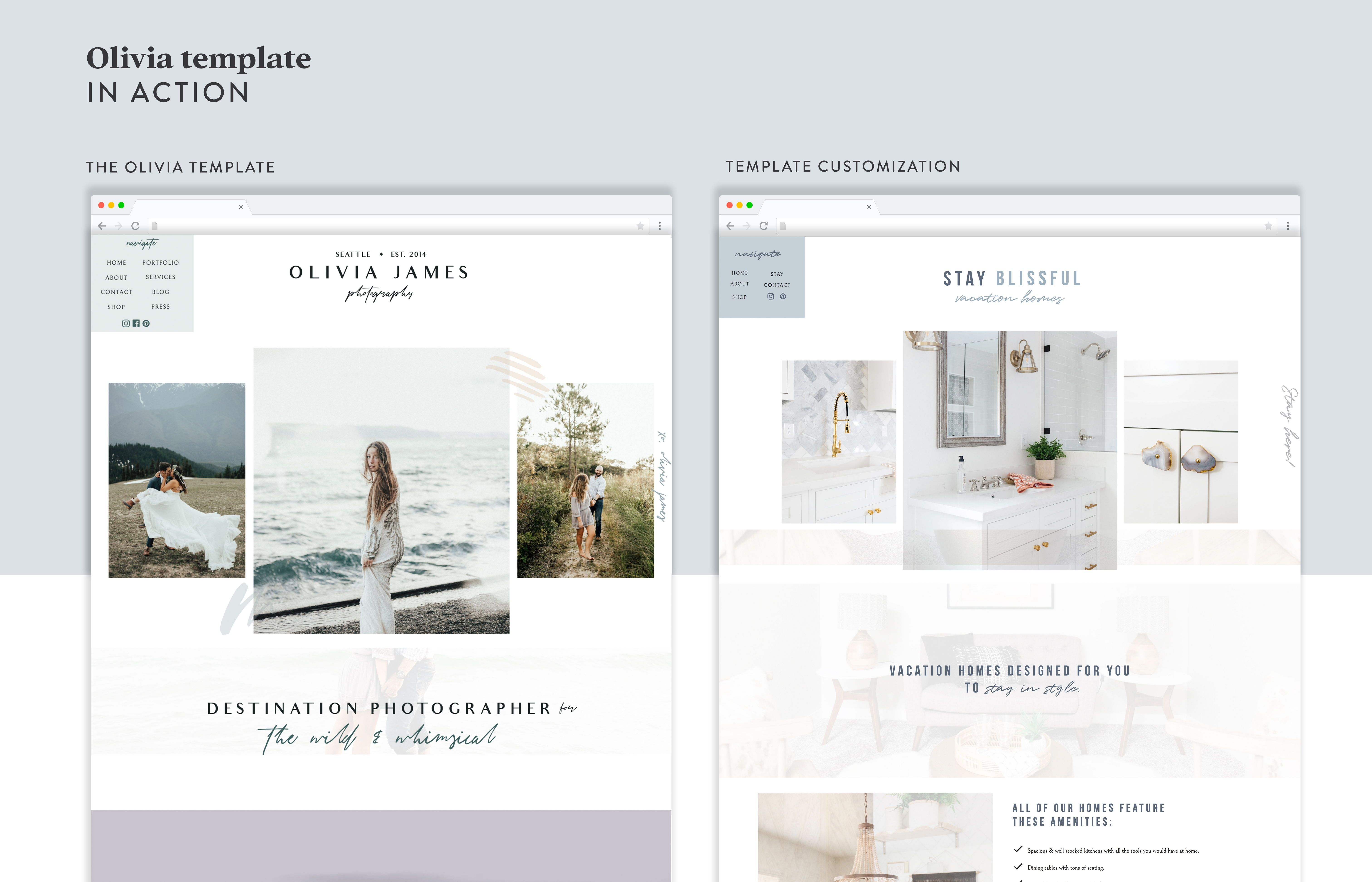 Showit website template and customer customization - Get ...