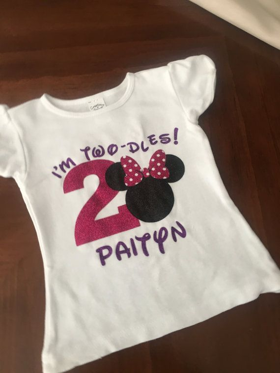 Custom Minnie Mouse Inspired Birthday Shirt Oh By Slisabailey 2 Year Old Girl