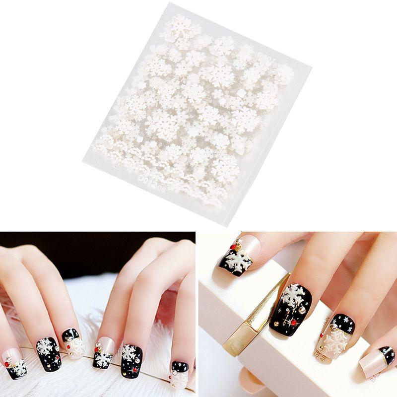 1sheet Diy Christmas Nail Art Stickers Snowflakes Cute Snowmen