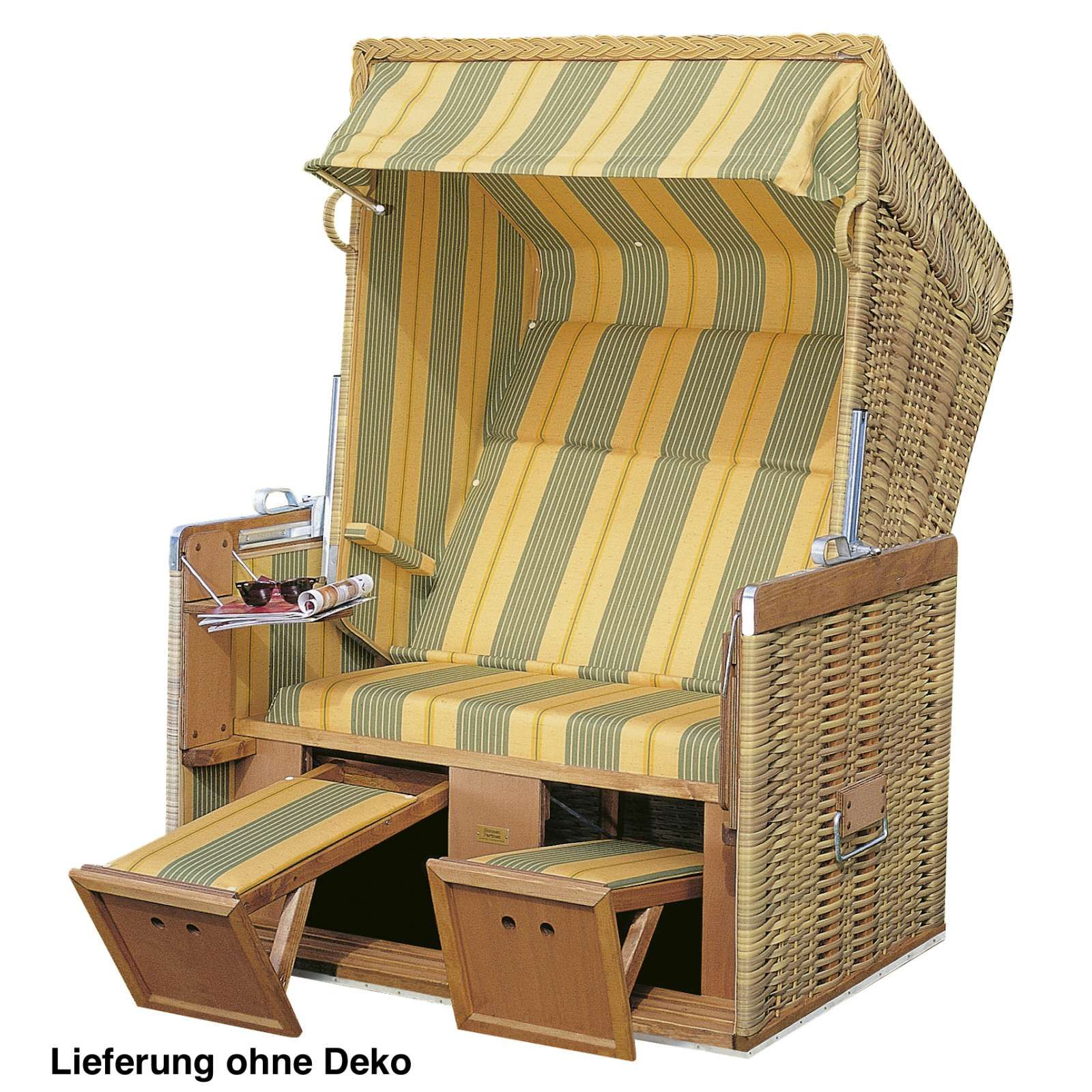 Sonnenpartner Strandkorb Konsul 2 Sitzer Halbliegemodell Seegras