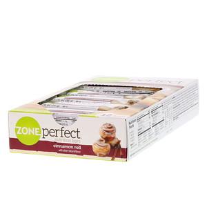 Zoneperfect 栄養バー シナモンロール 12本 各1 76オンス 50 G シナモンロール 栄養 バー