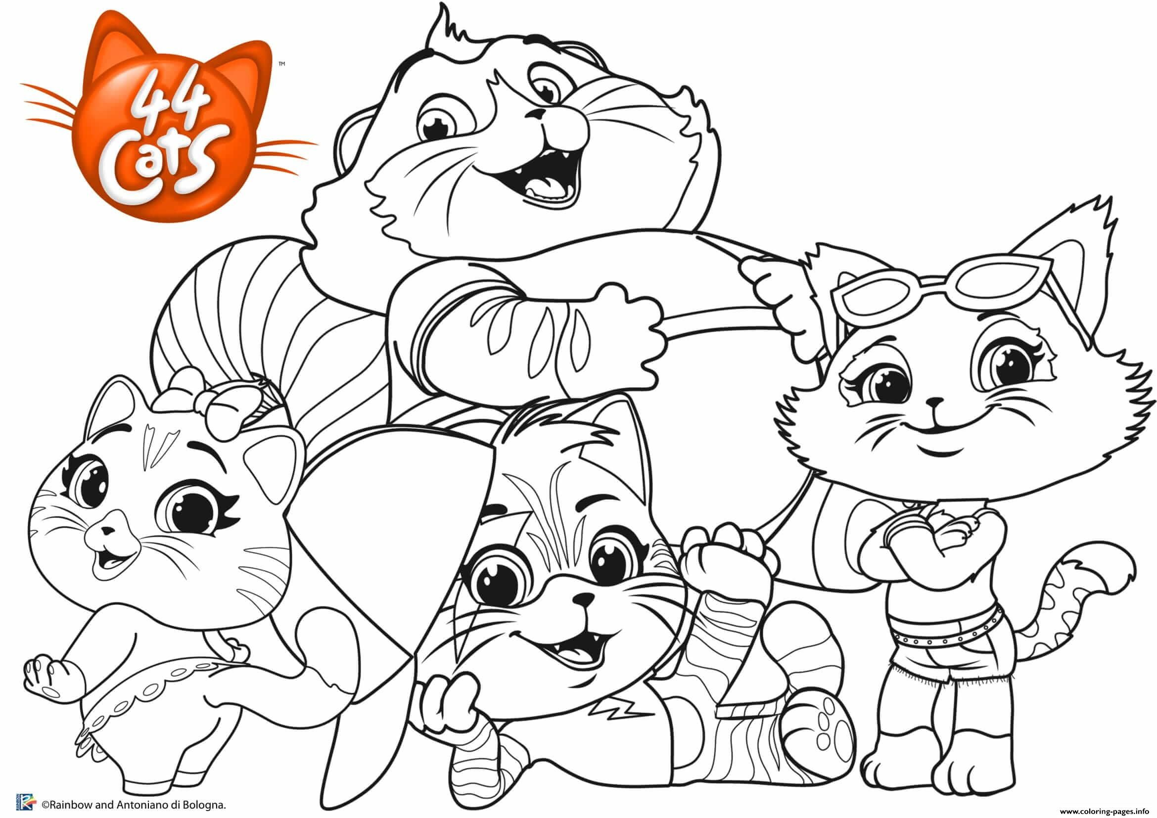 Print Buffycats 44cats Family Coloring Pages In 2020 Family Coloring Pages Coloring Pages Cat Coloring Page