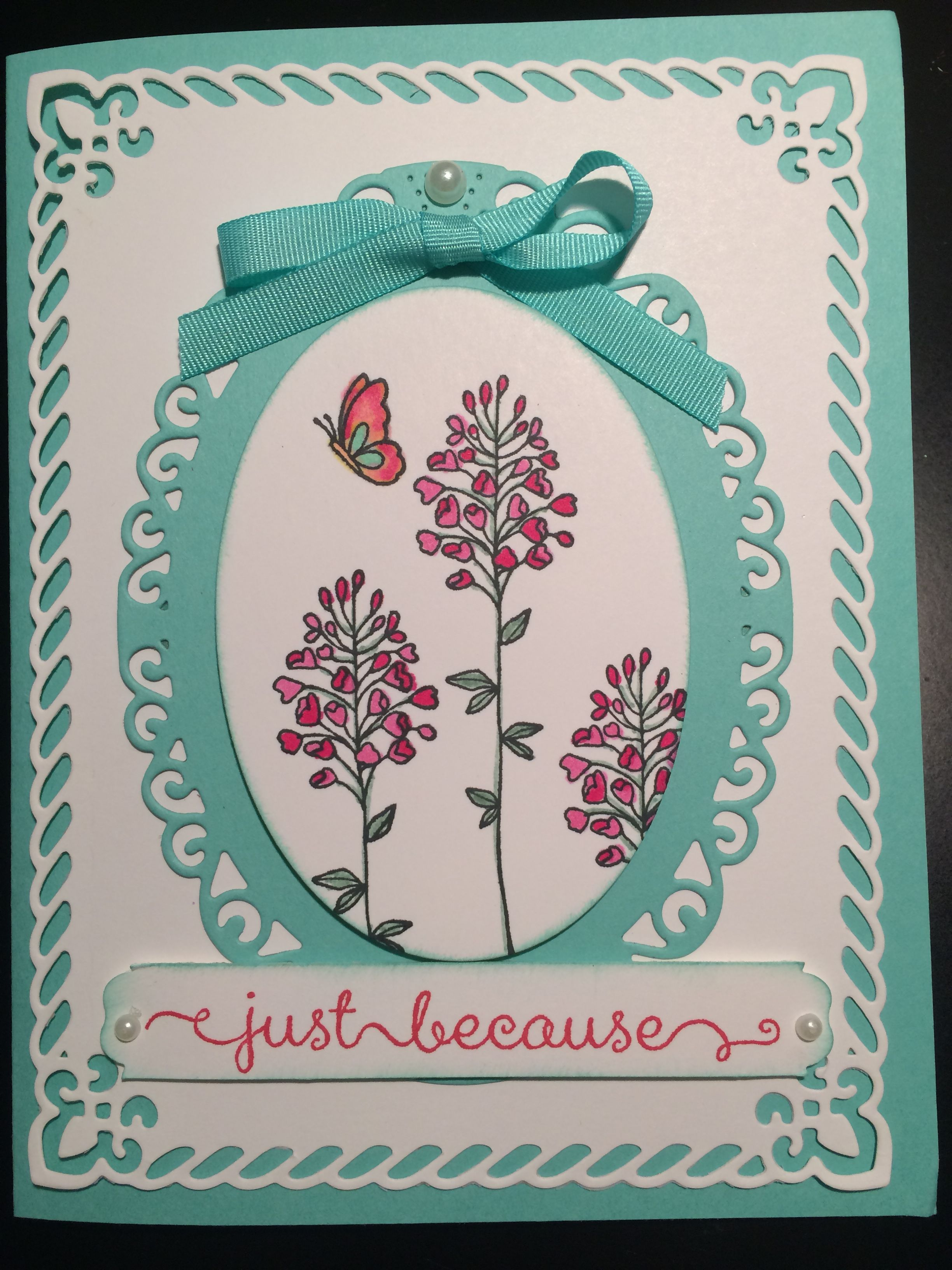 Stampin up Flowering Fields and Spellbinders dies