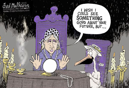 So so sad!  If we don't have bread I guess we can eat King cake.  Source: Lapolitics.com ICYMI: Weekly Lampoon.  LaPolitics cartoonist Fred Mulhearn takes a look into Louisiana's fiscal future ...