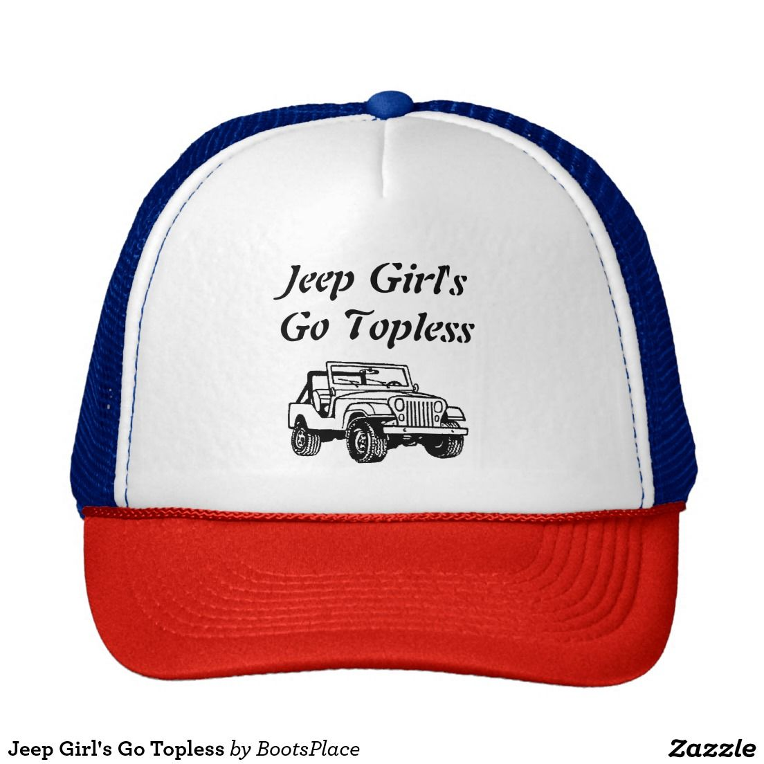 Jeep Girl's Go Topless Trucker Hat