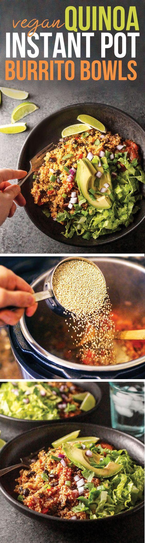 Instant Pot Vegan Quinoa Burrito Bowls