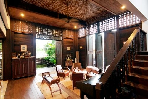 tropical living room in malaysia window treatments for bay modern kampung house premier property and real estate portal