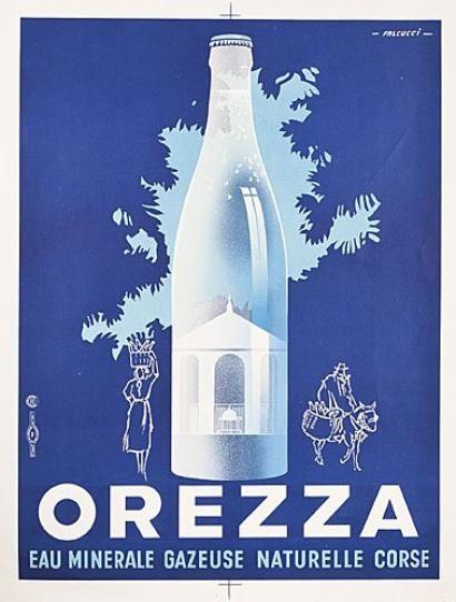 Carte Corse Orezza.Orezza Eau Minerale Gazeuse Naturelle Corse Illustration