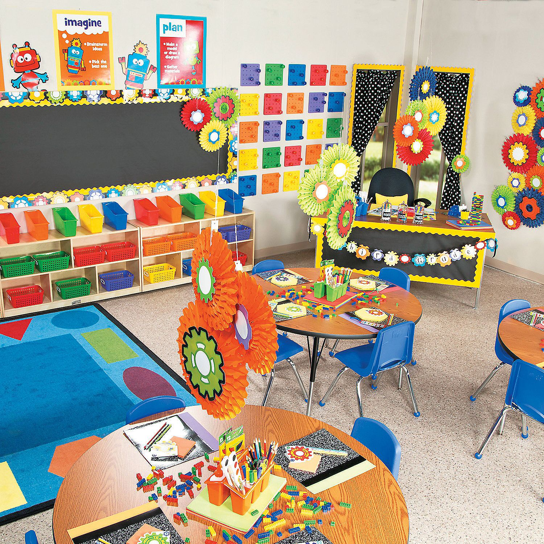 Robot Classroom Decoration Ideas : Robots gears classroom theme orientaltrading