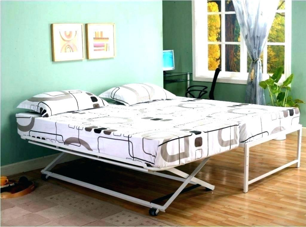 queen metal bed white frame color portable single with