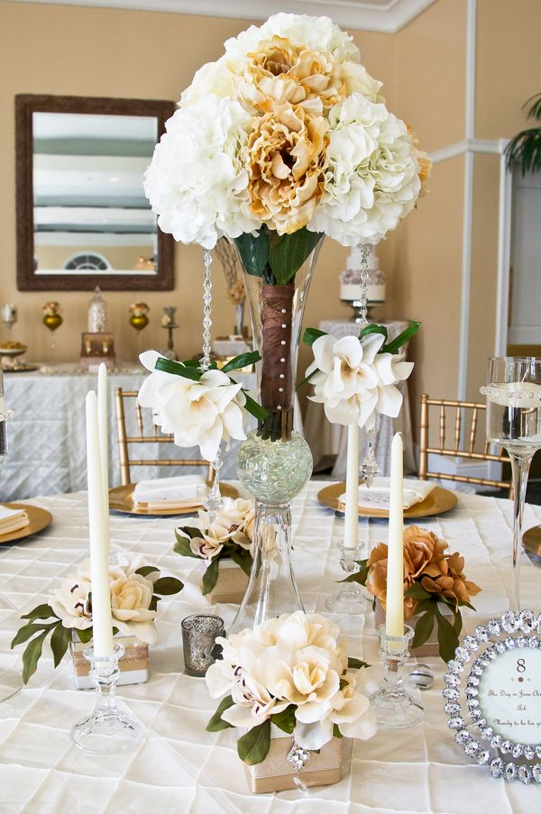 Country harvest centerpieces wedding table
