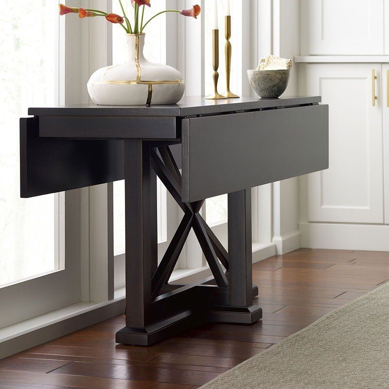 Everyday Peppercorn Drop Leaf Console Dining Table Dining Table