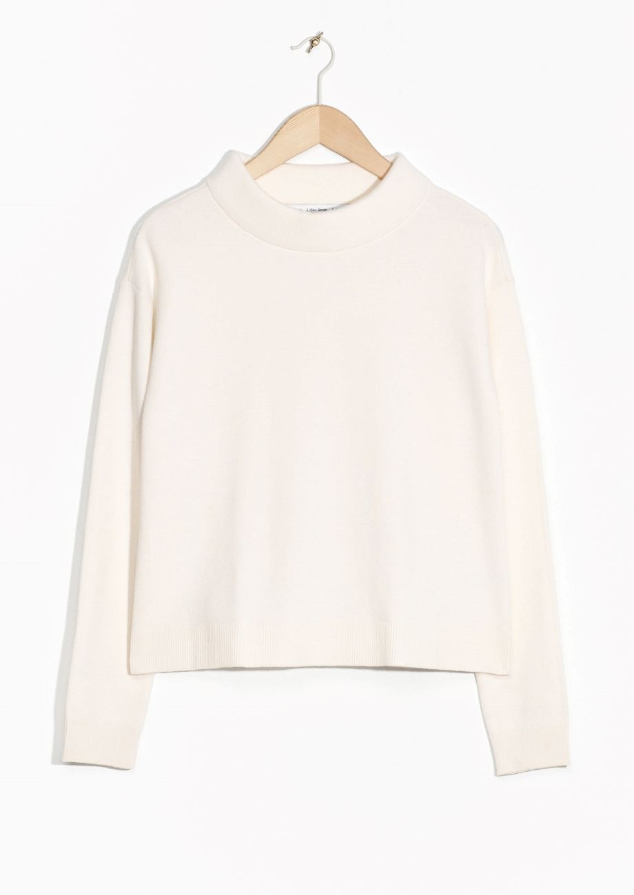 & Other Stories image 1 of Wide Collar Sweater in Off white