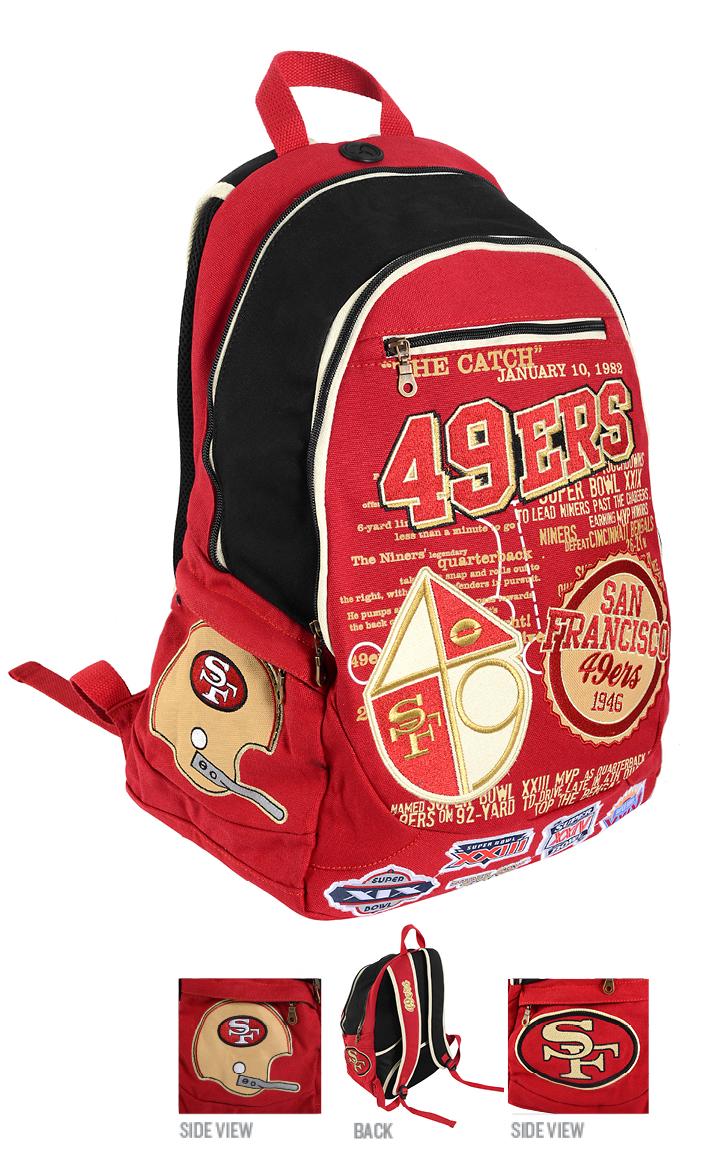 San Francisco 49ers Historic NFL Book Bag