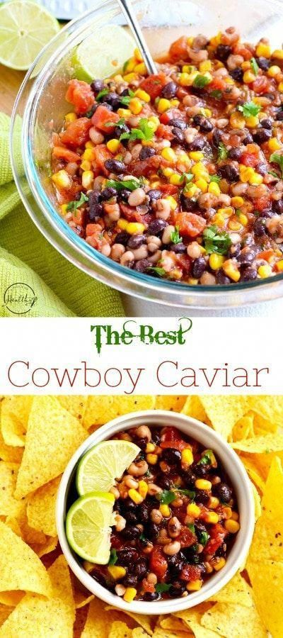 Cowboy caviar is a quick and easy appetizer that everyone will love, and it is perfect for summer since there is no cooking involved. #cowboy #caviar #healthyappetizers #cowboycaviar