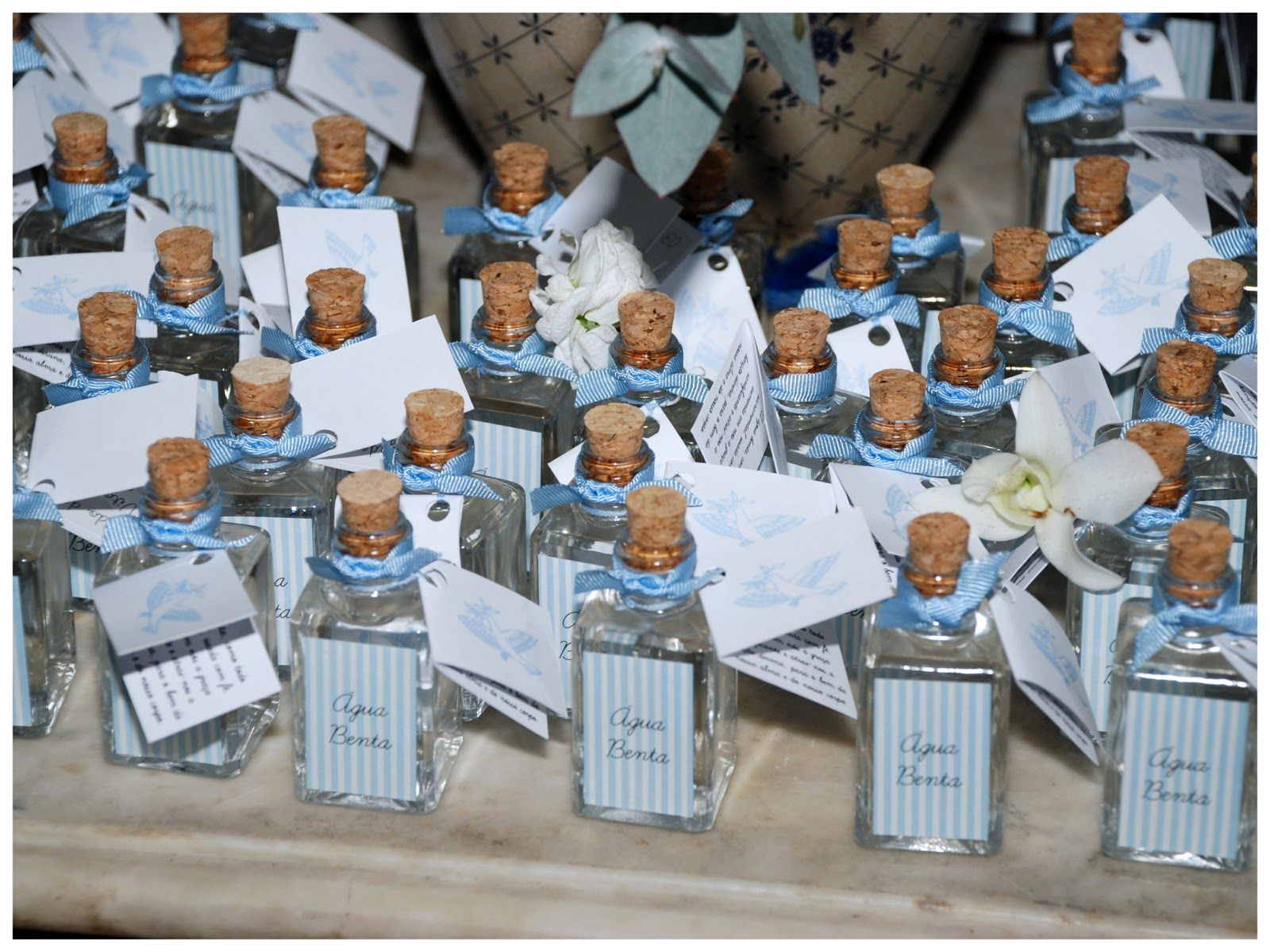 Celebrations in the catholic home blue baptism for Baby christening decoration