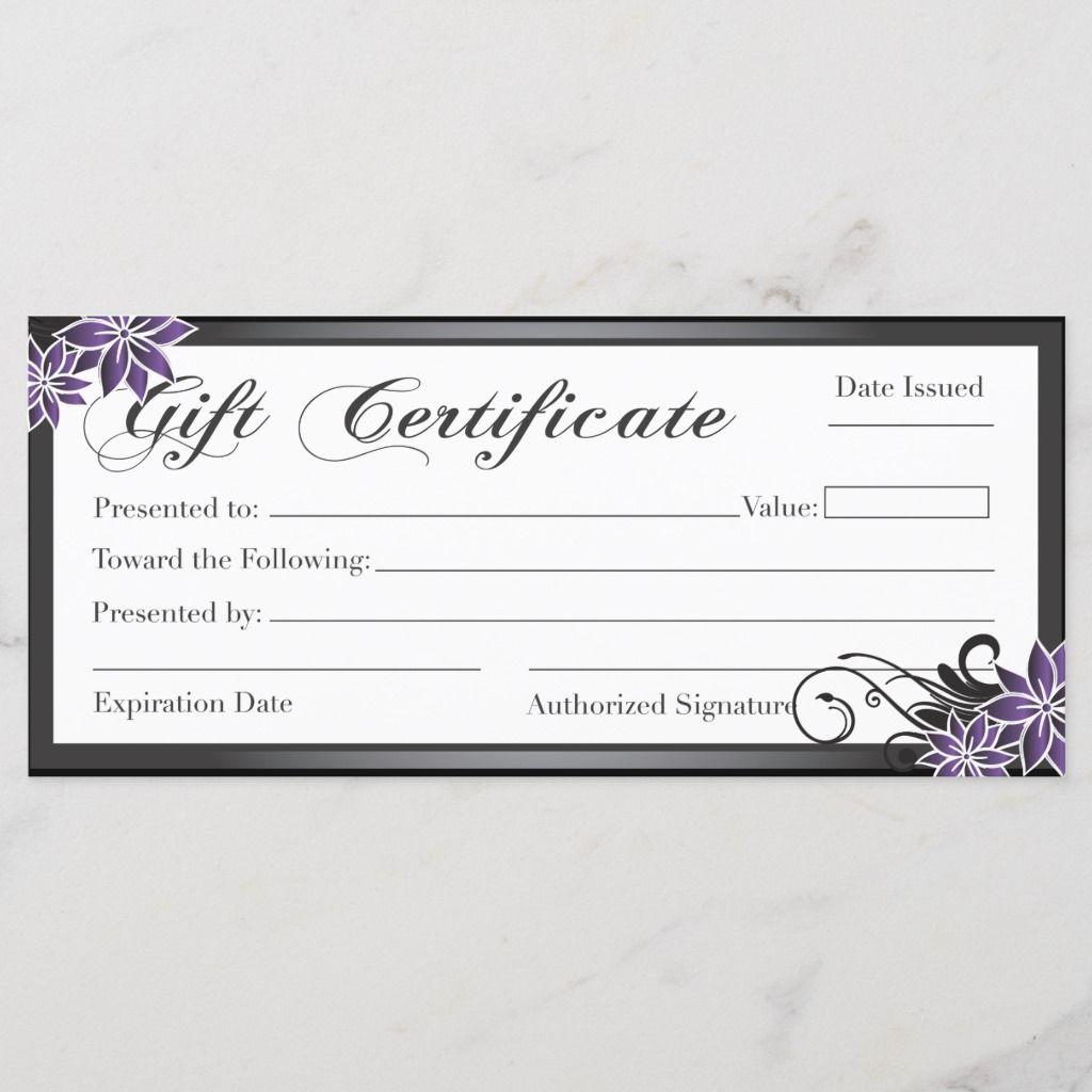 Salon And Spa Gift Certificate Zazzle Com In 2021 Printable Gift Certificate Spa Gift Certificate Gift Certificates