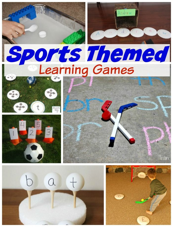 Sports Themed Learning Games Sports Activities For Kids Sports Theme Classroom Kids Learning Activities