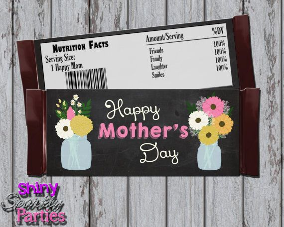 Printable MOTHER'S DAY CANDY Bar Wrappers - Mother's Day Candy Bar Wraps - Diy Mother's Day Gifts - Mother's Day Wrappers - Instant Download