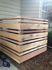 Fence Hiding Air Conditioner Design Ideas, Pictures, Remodel... / For my backyard - Juxtapost