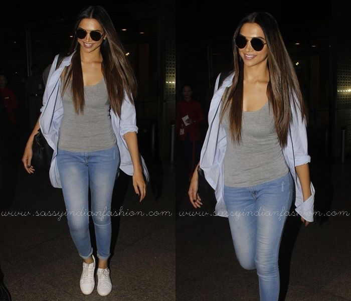 Deepika S Denim Style Is Irresistibly Stylish Sassy Indian Fashion Denim Fashion Celebrity Jeans Bollywood Fashion