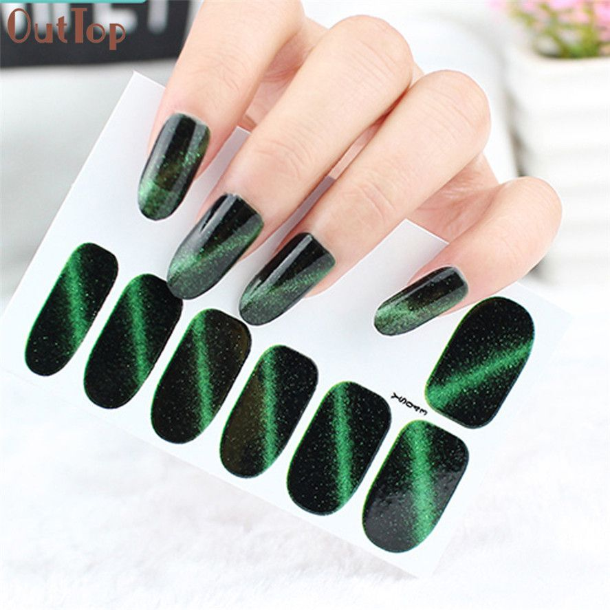 New DIY Nail Sticker OutTop 1PC Nail Art Transfer Stickers