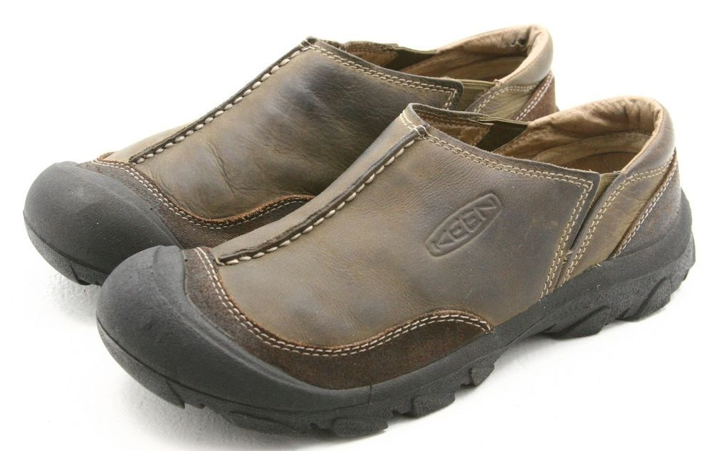 daa65c112b17b Keen  4268 mens shoes size 10.5 brown leather slip on mocs loafers EU 44   KEEN  LoafersSlipOns