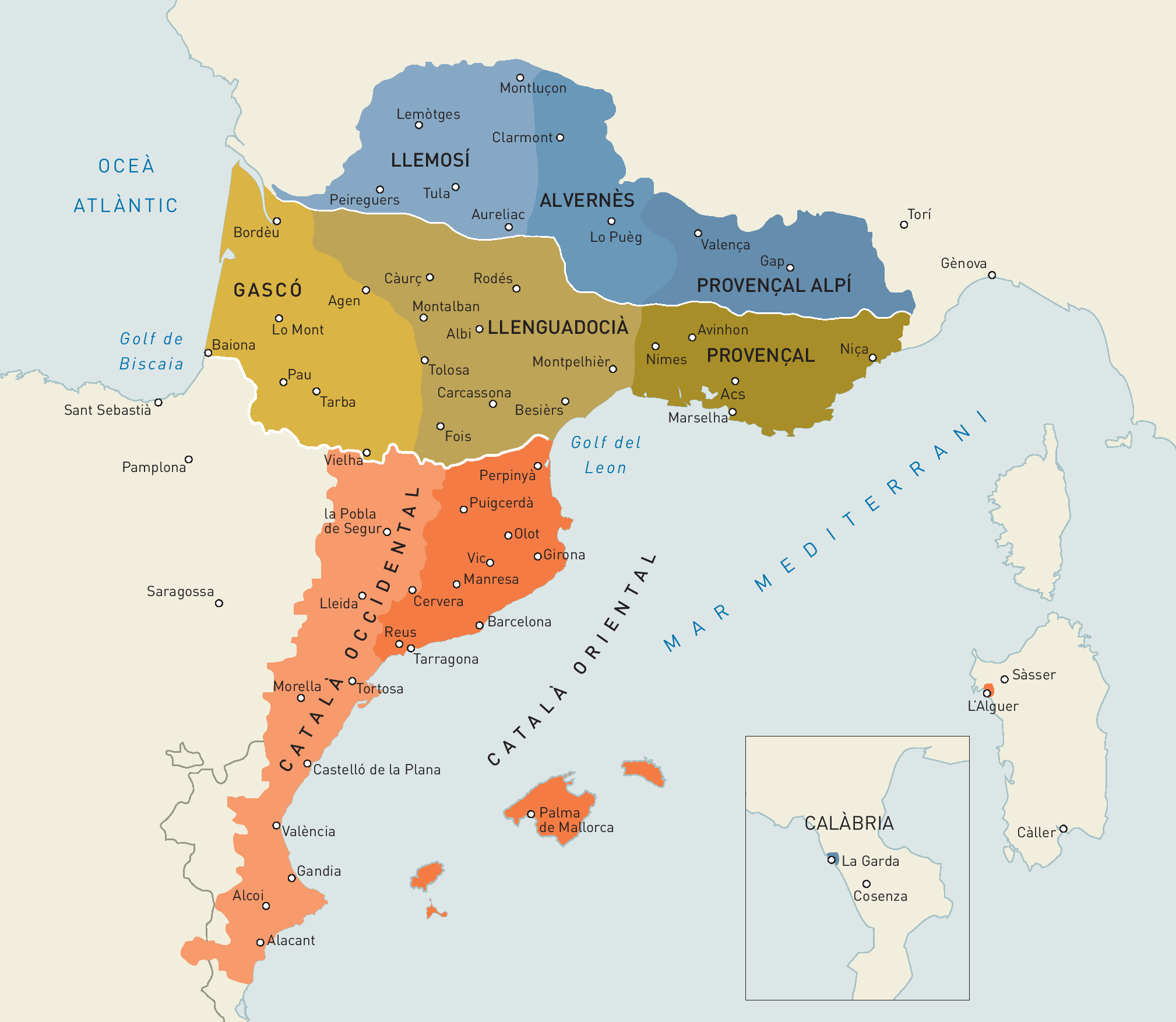 Catalan And Occitan Dialects Language Map Historical Maps Map