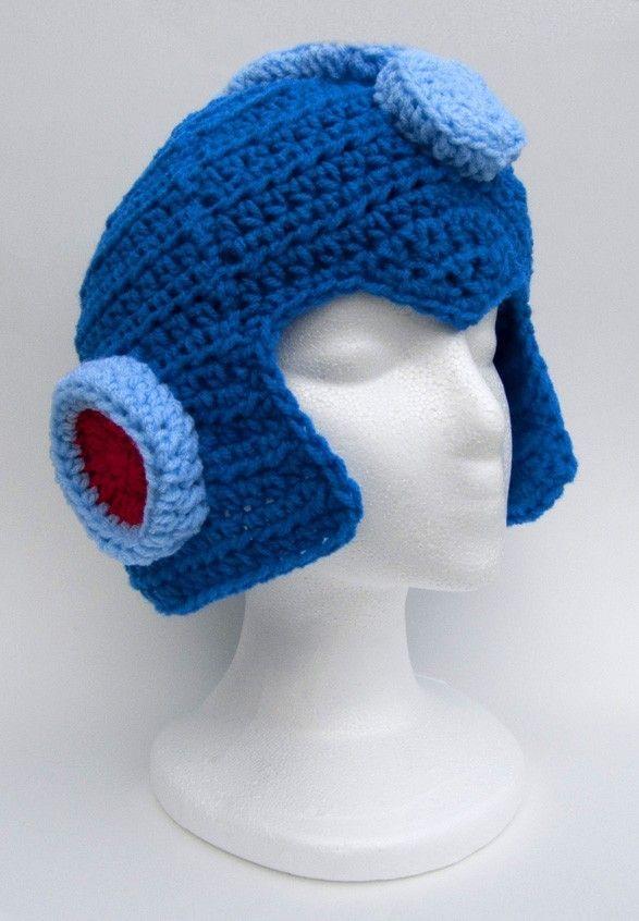 bc67de38a27 crochet Mega Man helmet.