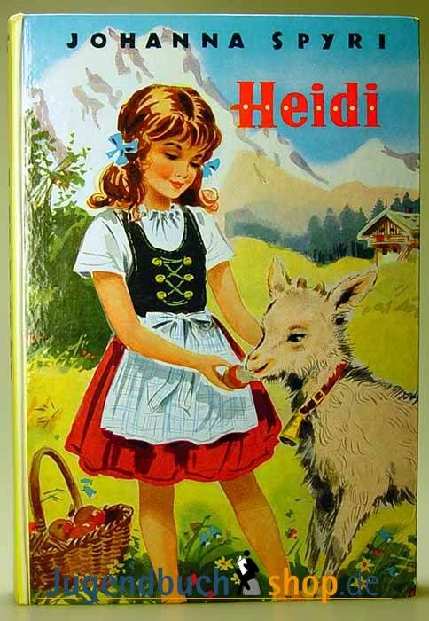 Heidi Johanna Spyri Book Cover Art Vintage Children S Books A New Home Paraphrased From By