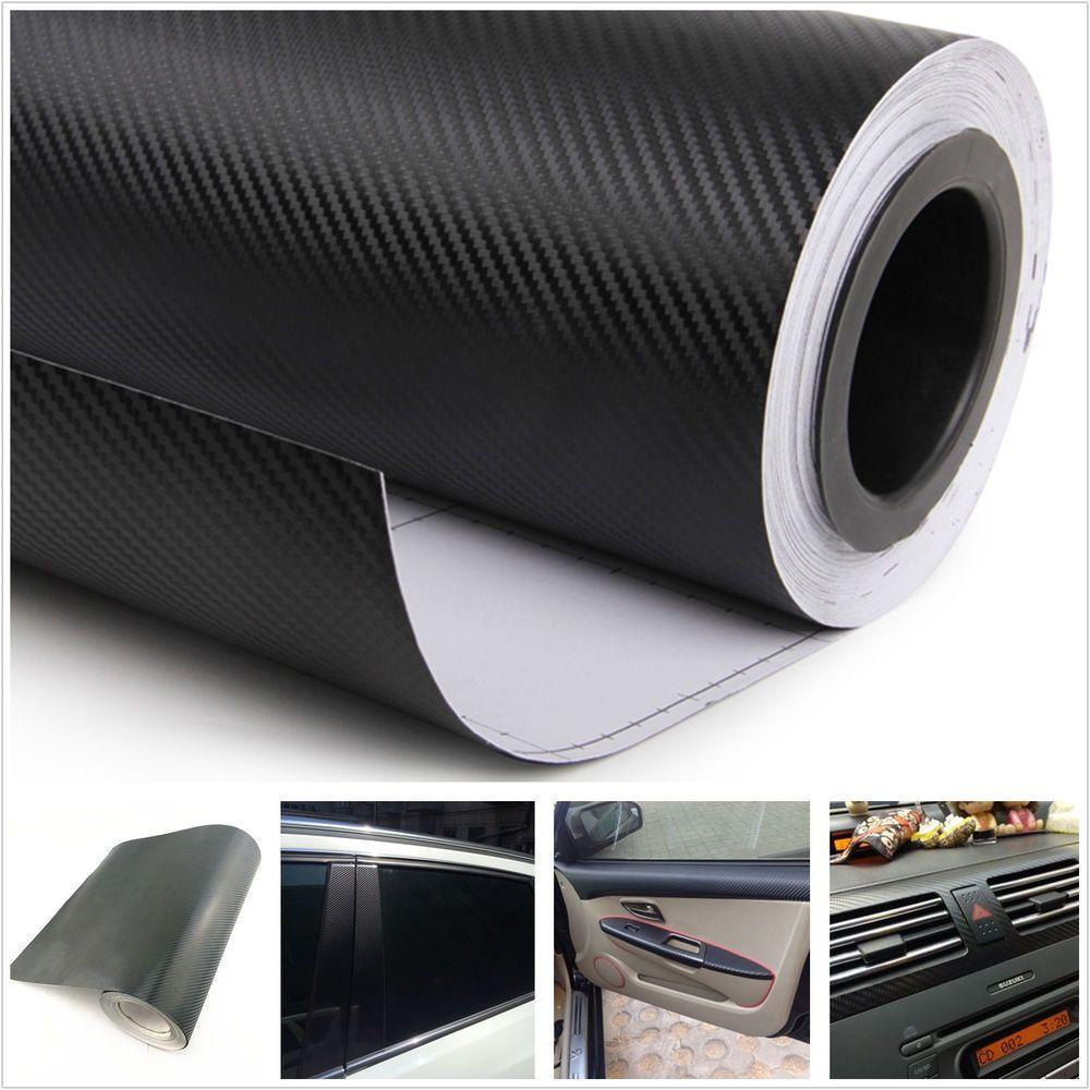 3d Car Interior Accessories Interior Panel Black Carbon Fiber