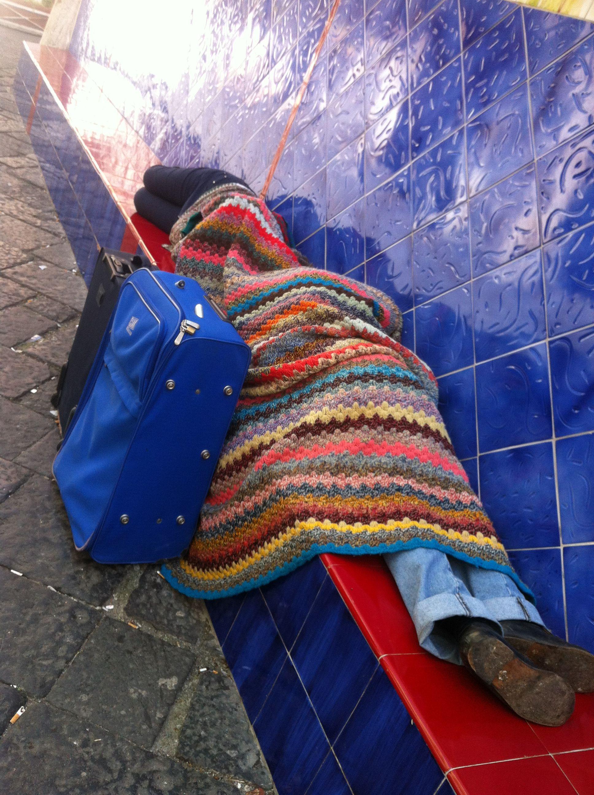 Slapen in Ravenna onder je zelfgehaakte deken...
