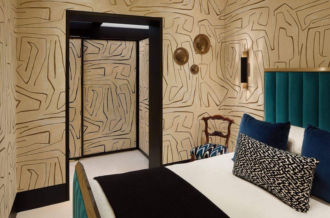 interiordesign luxurydesign bedroom bed wallpaper