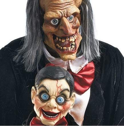Animated Halloween Prop Decoration Ventriloquist Puppet Master w