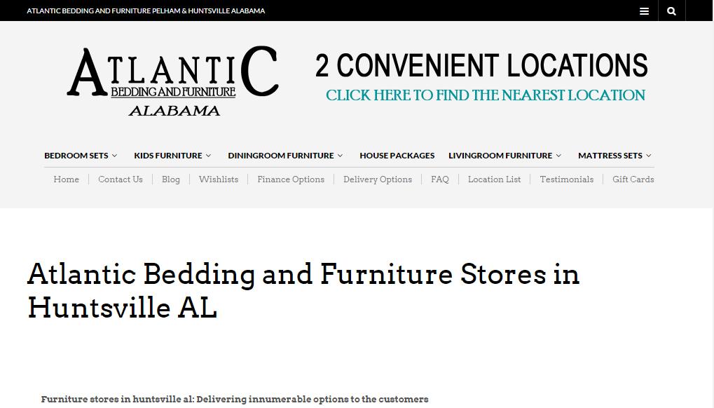 Atlantic Bedding And Furniture Stores In Huntsville AL Dining Room