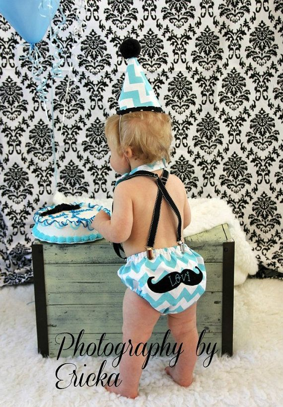 Custom Boys Birthday Suit with Diaper Cover, Suspenders, Hat, and Bow Tie (OTHER COLORS AVAILABLE) on Etsy, $60.00