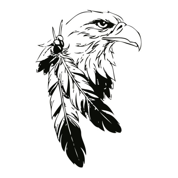 Eagle Tattoo Line Drawing : Indian eagle wall tattoo silhouette digistamp bird
