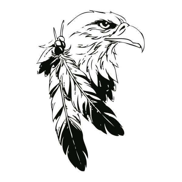 Wandtattoo Indianischer Adlerkopf - Wandprinzch Eagle