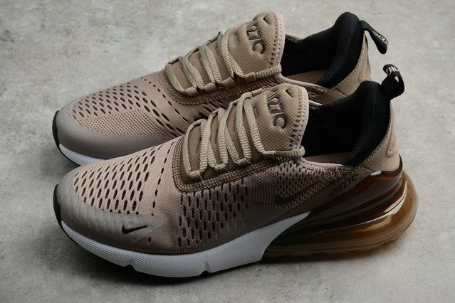 6de83c9e6d66 2018 Genuine Unisex Nike Air Max 270 Sepia Stone Brown White AH8050-200  Sneaker