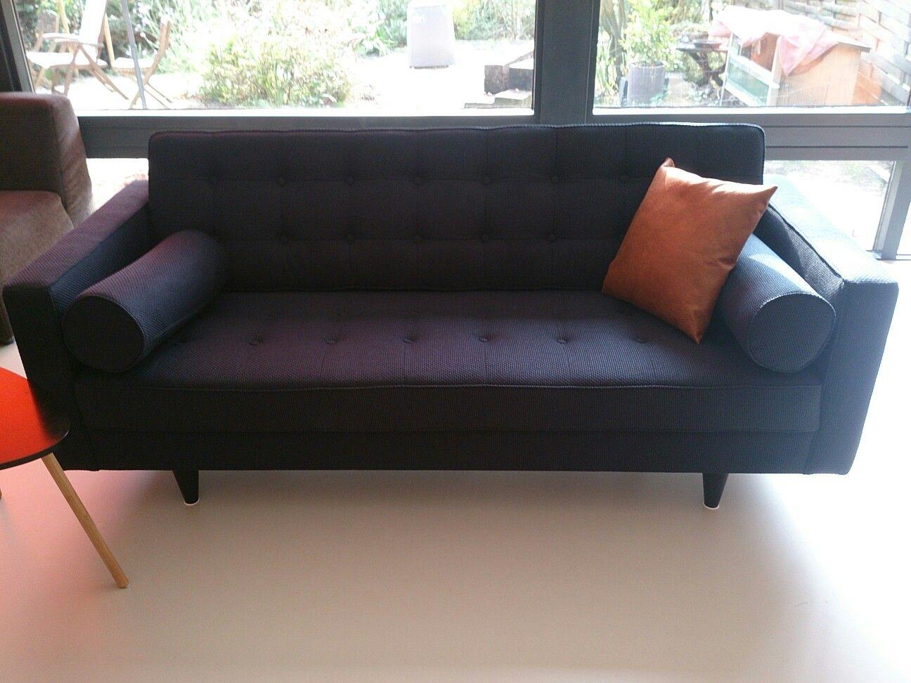 4 Zits Bank Trendhopper.Trendhopper Livio 3 Zits Bank Navy Blue Style Sofa Couch En Blue