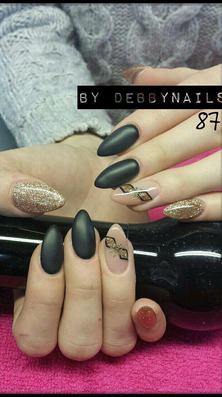 Mat zwart - Nagels | Pinterest - Zwart, Gelnagels en Nagel