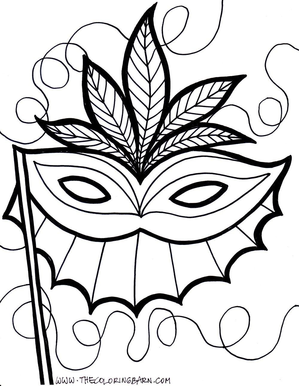 mask coloring pages mardi gras float coloring pages to
