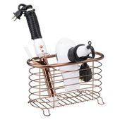 Vanity Countertop Hair Dryer Tool Holder Basket Metal WireSkincare