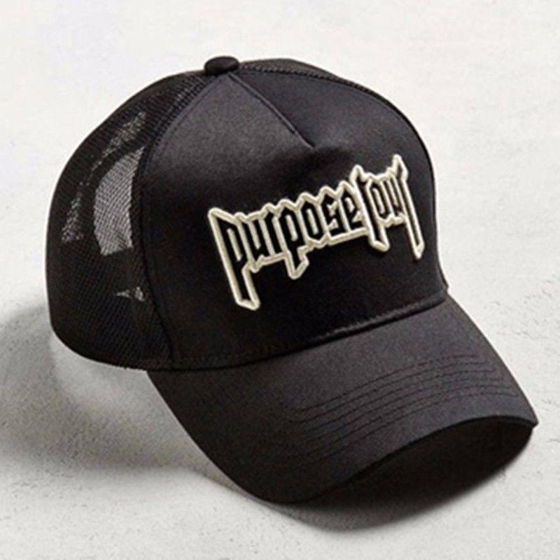 14.99 - 2018 Justin Bieber Hat Embroidered Purpose Tour Black Trucker  Baseball Cap  ebay  Fashion 27cebb46606
