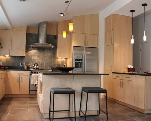 1,312 Contemporary Birch Cabinet Kitchen Design Ideas & Remodel ...